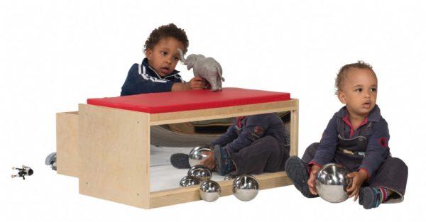 Preschool Bench Seat & Mirror w/Storage-0