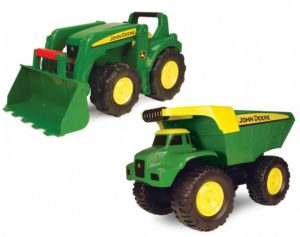 John Deere Mighty Tractor & Dump Truck Set (2pcs)-0