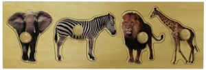 Giant Wild Animals Photo Puzzle (4pcs)-0