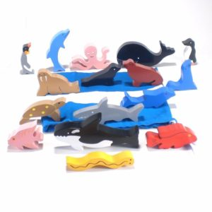 Wooden Sea Animals (16pcs)-0
