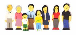 Asian Wooden Family (8pcs)-0