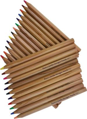 Jumbo Hexagonal Colour Pencils (24pcs)-0