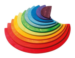 Large Semi-circle Rainbow Colours (11pcs)-0
