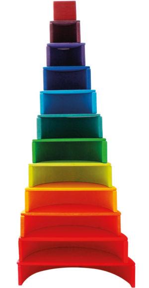 Rainbow Blocks & Semi-Circles (23pcs)-0