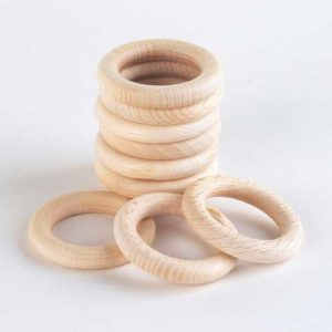Wooden Rings (10pcs)-0