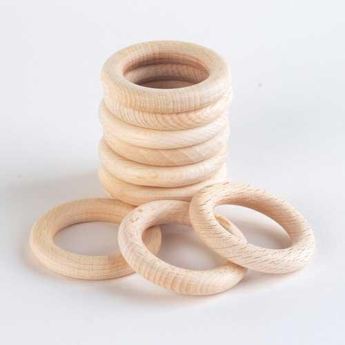 Wooden Rings (10pcs)-0