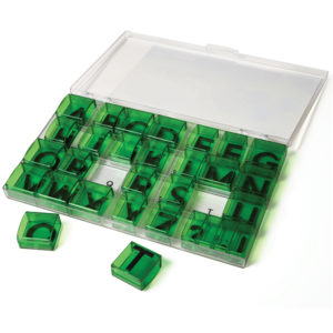 Alphabet Transparent Stamps - Uppercase Letters-0