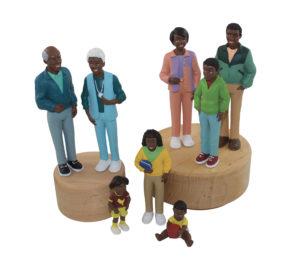 Life-like Black Family (8pcs)-0