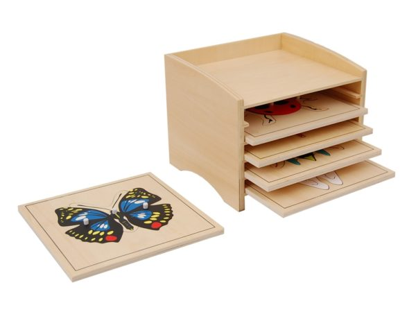 Insect Cabinet with 5 Life Cycle Puzzles-0
