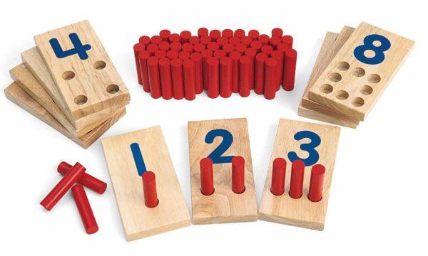 Peg Number Boards (65pcs)-0