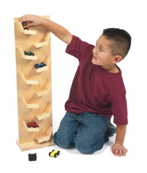 Two-sided Wooden Racing Tower-0
