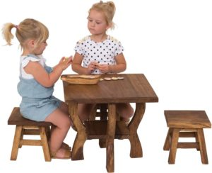 Wooden Square Table-0