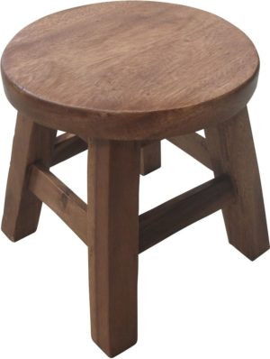 Wooden Round Stool-0