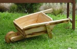 Wooden Wheelbarrow-0