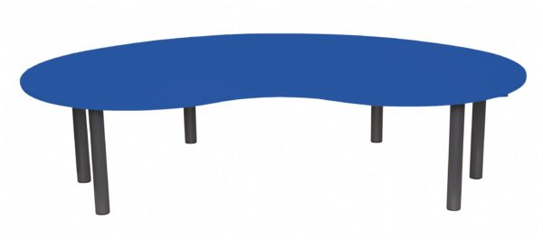 Heavy Duty Large Kidney Table Coloured-0