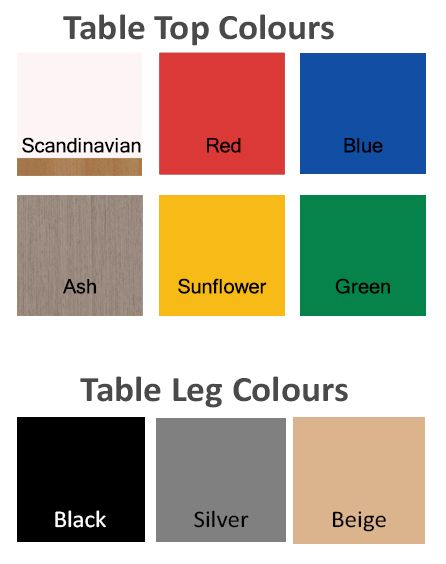 Heavy Duty Large Kidney Table Coloured-11810