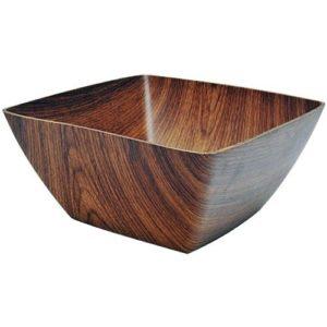 Square Wood Grain Bowl Large-0