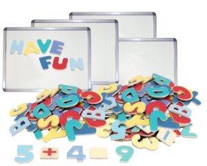 Whiteboards with Numbers & Letters Set (184pcs)-0