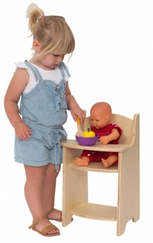 Wooden Doll High Chair-0