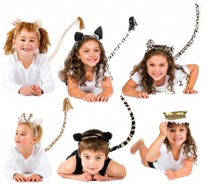 Jungle Animal Head & Tail Set (6pcs)-0