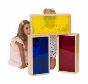 Large Wooden Rainbow Blocks (3pcs)-0