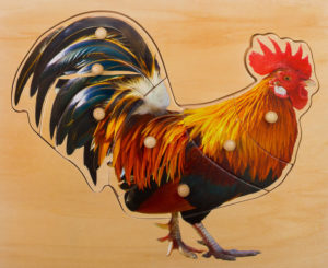 Rooster Puzzle (7pcs)-0