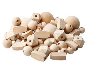 Natural Lacing Beads Assorted (92pcs)-0