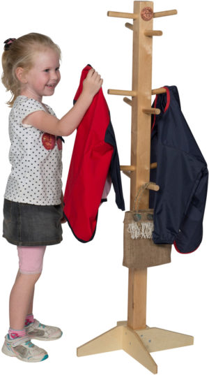 Wooden Apron & Clothes Stand-0