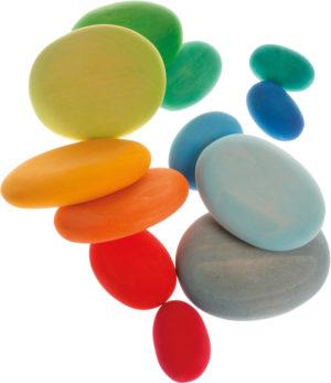 Wooden Coloured Pebbles (12pcs)-0