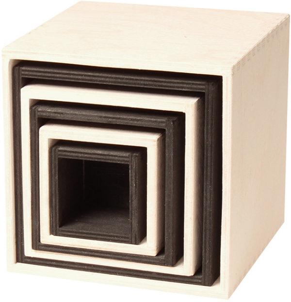 Black & White Stacking Boxes (6pcs)-0