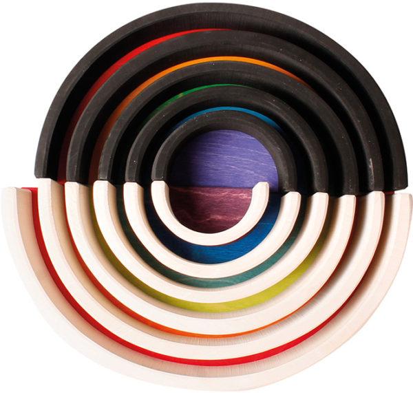 Black & White Rainbow Blocks & Semi Circles Set (23pcs)-13654