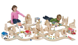 Wooden Roadway & Accessories Set (84pcs)-0