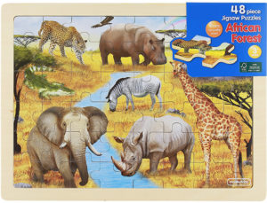 African Forest Jigsaw Puzzle (48pcs)-0