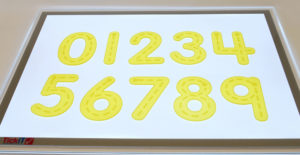 Transparent Trace Numbers (10pcs)-0