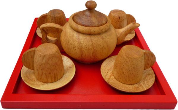 Wooden Tea Set (11pcs)-13933