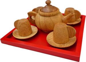 Wooden Tea Set (11pcs)-0