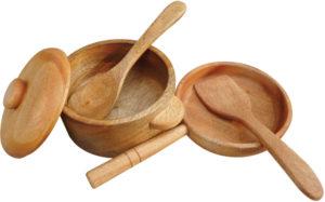 Wooden Pan & Pot Set (5pcs)-0