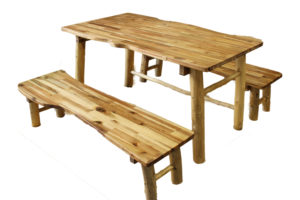Table & 2 Bench Set (3pcs)-0