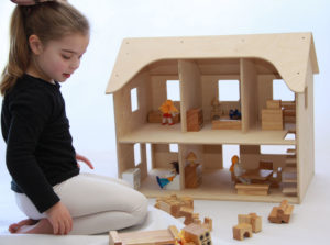 Wooden Doll House-0