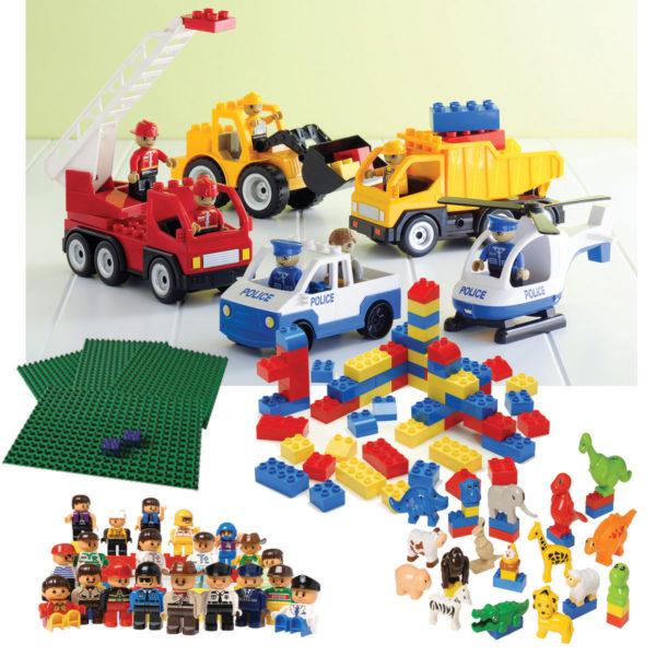 Preschool Building Block Set (196pcs)-0