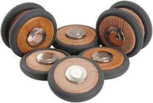 Magnetic Wooden Wheels (8pcs)-0