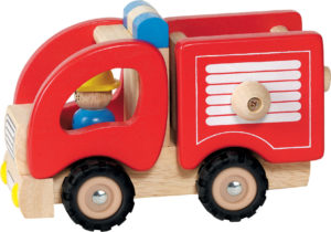 Wooden Fire Engine-0