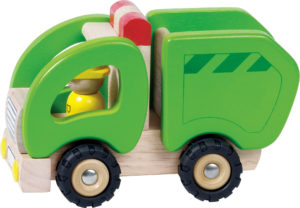 Wooden Rubbish Truck-0