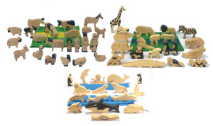 Natural Wooden Animals Set-0