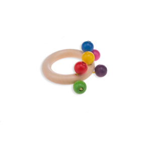 Beaded Teething Ring Natural
