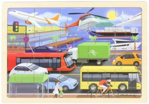 Transportation Jigsaw Puzzle (20pcs)-0