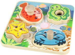 Tiny Tots Sea Creatures Puzzle (4pcs)-0