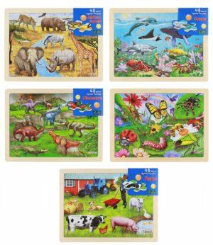 48 Piece Jigsaw Puzzle Set (5pcs)-0