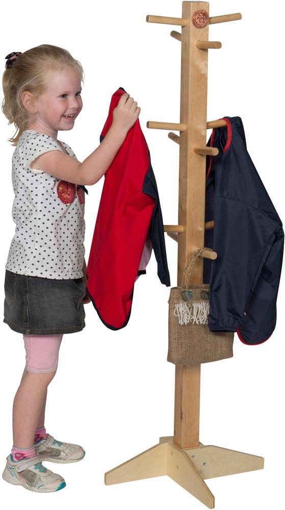 Wooden Apron & Clothes Stand-11174