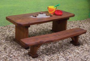 Natural Wood Bench Seat 90cm-0